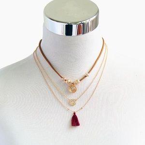 Jewelry - New Three Piece Tassel Choker Necklace